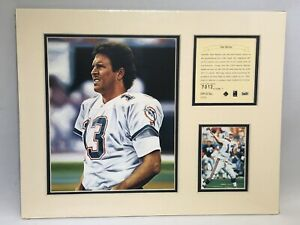 1995 Dan Marino Miami Dolphins Matted Kelly Russell Lithograph Art Print #7012