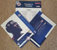 Reading v Fulham 1/10/19 Official Programme with official teamsheet!