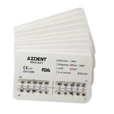 10X AZDENT Dental Orthodontic Metal Bracket Brace Standard Roth.022 Hooks 3
