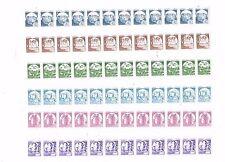 ITALIA REP. 1988 CASTELLI BOBINE * £ 50/750 SERIE CPL x 6 x 12 VAL- CON NUMERI