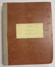 1943 Lockheed -Vega Airplanes Original Master Handbook Of Weight & Balance