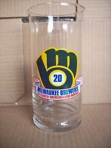 Milwaukee Brewers Drinking Glass Scrub-a-Dub Car Wash American League 20 Years