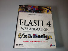 Flash 4 Web Animation F/X and Design by Ken Milburn (1999, CD-ROM / Paperback)