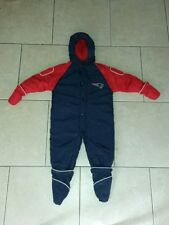 New England Patriots one piece snow suit,fleece lined insulated,boys 18-24 mos