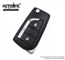 Keyzone aftermarket replacement flip key shell for Toyota Innova Crysta