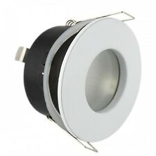 10 x White Waterproof Bathroom Shower Downlights IP44 GU10 Led Suitable Lights
