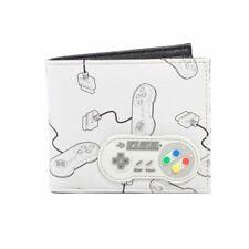Snes Controlador con Goma Parche Aop Plegable Cartera - Clásico Nintendo Merch