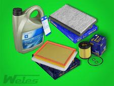 Paquete de Inspección Filtro + ORIGINAL ACEITE MOTOR 5w30 OPEL ASTRA H 1,7 CDTI