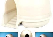 Petmate Booda Dome Clean Step Cat Litter Box 3 Colors Pearl White