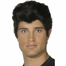 Official Licensed Grease Danny Zuko Black Wig 50s T-Birds Fancy Dress Accessory