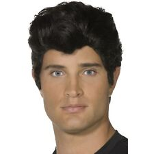 Male Adult Danny Grease Wig Smiffys Fancy Dress Costume Accessory - Black