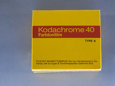 Kodachrome 40 Super 8 tonfilmkassette Type a nuevo & OVP kodak tonalidad película