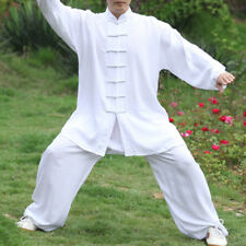 Shaolin Monk Wudang Taoist Kung Fu Robe Tai Chi Uniform Wushu Martial Arts Suits White 185