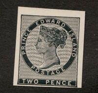 Unitrade #5 - Reprint Plate Proof - Prince Edward Island F/VF MH - Superfleas