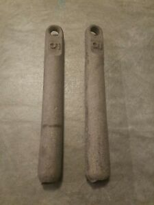 Clean Pair Of Window sash weights (2) 5 pounds each
