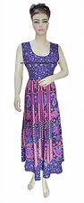 Indian mandala long dress hippie women Tunic beach cotton nightgown sleepwear