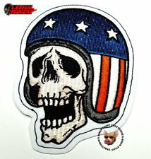 LETHAL THREAT SKULL USA HELMET EMBROIDERED PATCH * MADE IN USA * MOTORCYCLE