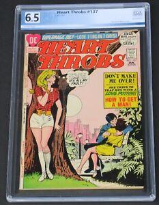 Heart Throbs #137 PGX 6.5 DC Comics 1972 Love & Romance