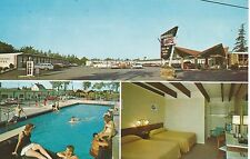 Ellsworth ME Brookside Motel Guy Is Not Looking At The Girls Face Postcard 1966