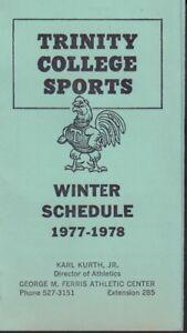Trinity College Sports 1977-78 Winter Schedule 101617jh
