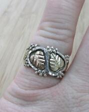 Sterling Silver & 12KT Gold Black Hills Gold Ring Sz 7.75 ~ 5.4grams ~ 7-H6276