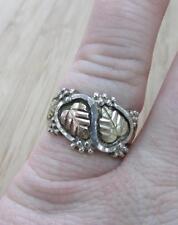 Sterling Silver & 12KT Gold Black Hills Gold Ring Sz 7.75 ~ 5.4grams ~ 7-H6276