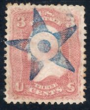 #65 Used Fancy Blue 5-Pointed Star w/Blue Dot Cancel - Complete Strike (JH 4/19)