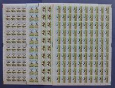 NVPH 1301-1304 COMPLETE VELLEN van 100 Kinderzegels 1984 (Plaatfouten)