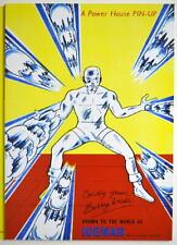 POWER PIN-UP Print - ICEMAN Vintage Art Marvel UK Distribution X-Men