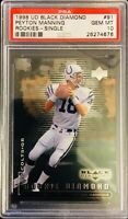 PSA 10/ GEM-MT! 1998 UD Black Diamond PEYTON MANNING Rookie Card #91  COLTS