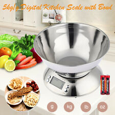 5Kg Digital Kitchen Scale Electronic Household Food Cooking Weighing Bowl Scales