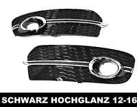 Für Q5 8R 12-17 Wabengrill Nebelscheinwerfer blenden gitter kappen Glanz #05