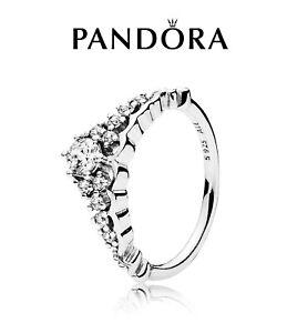PANDORA WISHBONE FAIRYTALE TIARA RING 196226CZ S925 ALE STERLING SILVER ALL SIZE