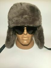 Gorgeous 100% Leather Real Sheepskin Hat Genuine Leather Mens Winter Sizes M-XL