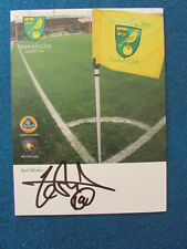 More details for hand signed - zesh rehman - norwich city - 6