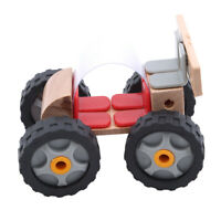 Kids Motorcycle Wooden Trailer Puzzle Cute Animal Kid Early Development Toy WA