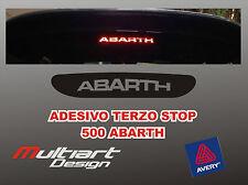 ADESIVO STICKERS PER TERZO STOP FIAT ABARTH 500
