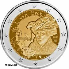 2x2 Euro BELGIEN 2020 COINCARD  JAN VAN EYCK   VVK !