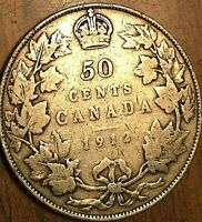 1912 CANADA SILVER 50 CENTS COIN