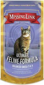 The Missing Link Ultimate Feline Formula 6oz  Balanced Omega 3 & 6 Cat Suppl.