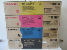 1x Satz Original Toner Sharp MX-70GTBA/MA/CA/YA für MX-5500N, MX-6200N, MX-7000N