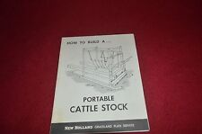 New Holland Farm Equipment How To Build A Cattle Stock Dealer's Brochure YABE10