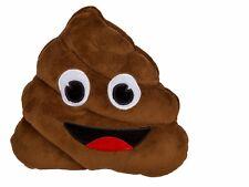 Emoji Emoticon Smilie Plüsch Kissen Poo Kackhaufen, 20x20cm, Polyester waschbar