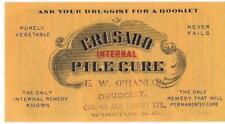 "Dr Donald Wallace ""Crusado Internal Pile Cure"" Medical Hemorroid Remedy Advrtsg"