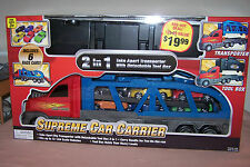 Supreme Car Carrier Includes 6 Race Cars Transporter & Toolbox New n Box Gift It