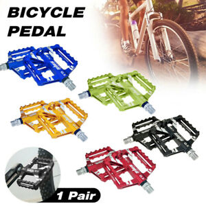 Mountain Road Bike Aluminum Alloy MTB Pedals Flat Platform Bicycle Pedal 1PairSY