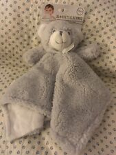 Blankets And & Beyond Baby Security Lovey Nunu Grey Gray Sherpa Bear