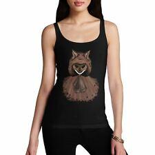 Women's Red Riding Hood Wolf Print Cotton Novelty Tank Top