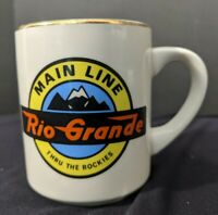 VTG Rio Grande Main Line Thru The Rockies Coffee Mug Train Railroad Cup No Chips