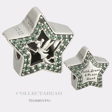 Authentic Pandora Silver Disney Green Tinker Bell Stars Bead 791920NPG *SPECIAL*